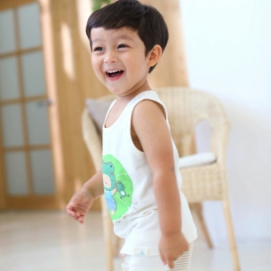 Bamboo Organic wording clothes Sleeveless sanghabok _ sleep (male)