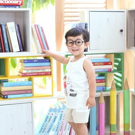 Bamboo organic clothing Sleeveless wording sanghabok _ books (male)