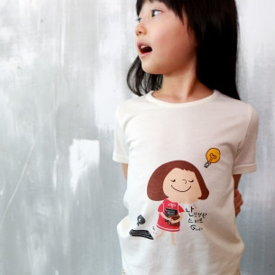 Bamboo organic clothing Short-sleeve wording sanghabok _ books (female)