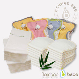 Mild bamboo cloth diaper <br> All day full set [mixed]