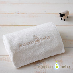 Mild bamboo loop in face towel <br> Cream_40cmX80cm