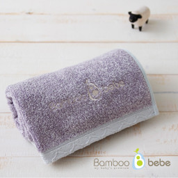 Mild bamboo loop in face towel <br> Purple _40cmX80cm