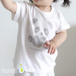 Mild bamboo solsol Panda Short-sleeve T-shirt (6 ~ 24 months)
