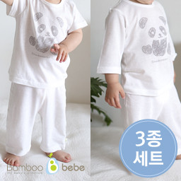 Mild bamboo solsol Panda Underwear Set 3 kinds (6 ~ 24 months)