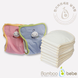 Mild bamboo cloth diaper <br> Oscillation Prevention Set [Wing Type]