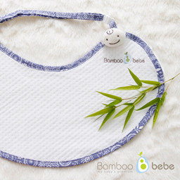 Mild bamboo <br> With Mom Mother Bib _ Lavender Blooms
