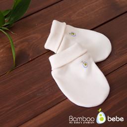 Bamboo Cream Baby Mittens