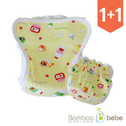 <font color=#d2446c><b>[1 + 1 Event]</b></font> <br> [Old Version] Shurum Waterproof Diapers Cover_ Breakfast