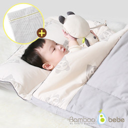 Bamboo mattress next to the new baby bedding set (nap bed combined) <br> <font color=#d2446c><b>[Smoke free laundry screen oversized presentation]</b></font>