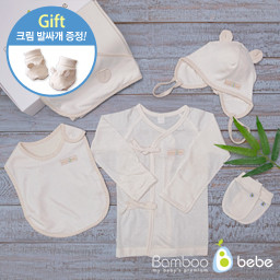 Bamboo summer moth Baby Gift Set 5 species <br> <font color=#d2446c><b>[Cream presentation]</b></font>