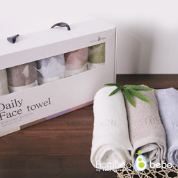 Mild Bamboo Daily Face Towel <br> [5 Piece Set]