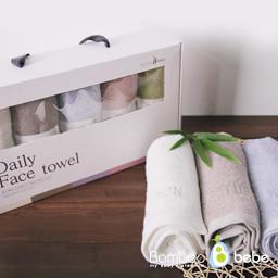 Mild Bamboo Daily Face Towel [Set of 5]