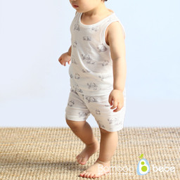 Mild Bamboo Sols Panda Sleeveless Underwear Set (6 to 24 months)