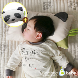 Mild Bamboo Baby Curry Pad & Pillow Set <br> <font color=#d2446c><b>[Panther Pillow Add Gift]</b></font>