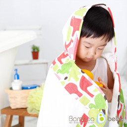 Mild bamboo stick hood towel _ petit animal