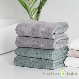 <font color=red><b>[More special deals for bamboo towels]</b></font><br> Pure Bamboo Dual Color Face Towel<br> _Green/Gray
