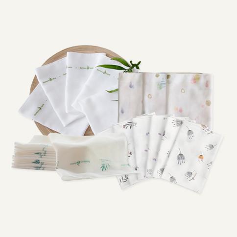 Handkerchief package<br> [Original Gauze 10 pieces + Sensitive Gauze 10 pieces + Design Gauze 6 pieces + Emboss 6 pieces]