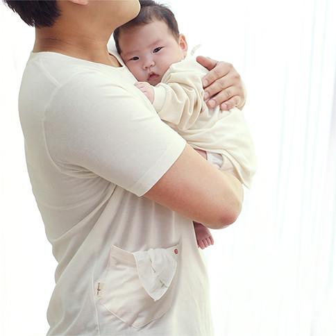 Arang-ah and Dad Tea_Short-sleeve<br> <b>(Cream/White option 1)</b>